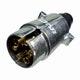 Miniatura imagem do produto Tomada de Engate Macho (Móvel) Redonda 6 Polos Polarizada em Alumínio - DNI - DNI 8327 - Unitário