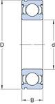 Miniatura imagem do produto Rolamento da Caixa de Transferência e do Câmbio - SKF - 6305 - Unitário