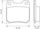 Miniatura imagem do produto Pastilha de Freio - BB 38 - Bosch - 0986BB0034 - Jogo