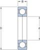 Miniatura imagem do produto Rolamento de Esferas de Contato Angular - SKF - QJ 308 MA - Unitário