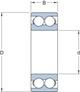 Miniatura imagem do produto Rolamento de Esferas de Contato Angular - SKF - 3312 A - Unitário