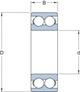 Miniatura imagem do produto Rolamento de Esferas de Contato Angular - SKF - 3304 ATN9 - Unitário