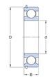 Miniatura imagem do produto Rolamento Rígido de Esferas - SKF - 6208-ZNR - Unitário