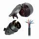 Miniatura imagem do produto Kit Cabo Pp 6 Vias de 1mm2+Conjunto Tomada de Engate (Macho+Fêmea) Redonda 6 Polos Polarizada Nylon - DNI - DNI 8359 - Unitário