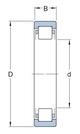 Miniatura imagem do produto Rolamento de rolos cilíndricos - SKF - NUP 207 ECJ - Unitário