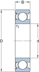 Miniatura imagem do produto Rolamento rígido de esferas. ranhura para anel de retenção no anel externo com o anel de retenção - SKF - 6310-ZNR - Unitário